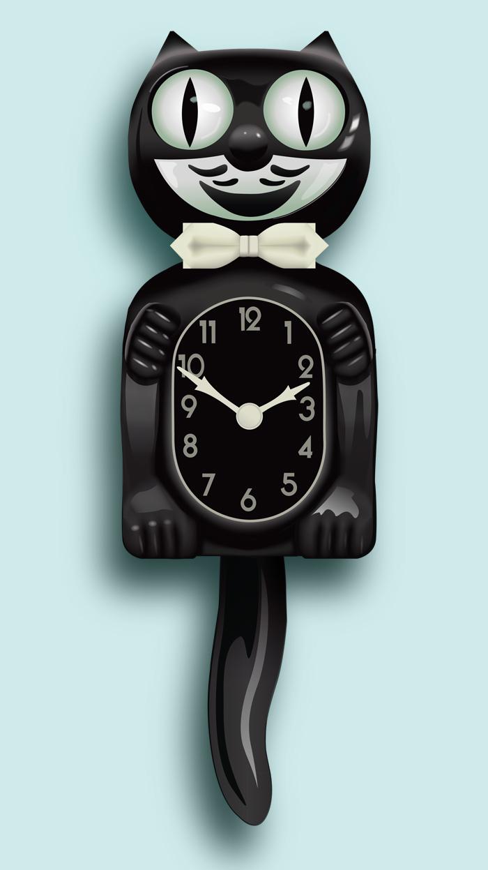 kitkat clock bing images. Black Bedroom Furniture Sets. Home Design Ideas